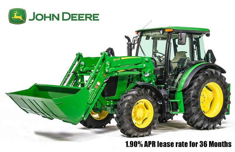 John Deere - 1.90% APR lease rate for 36 Months