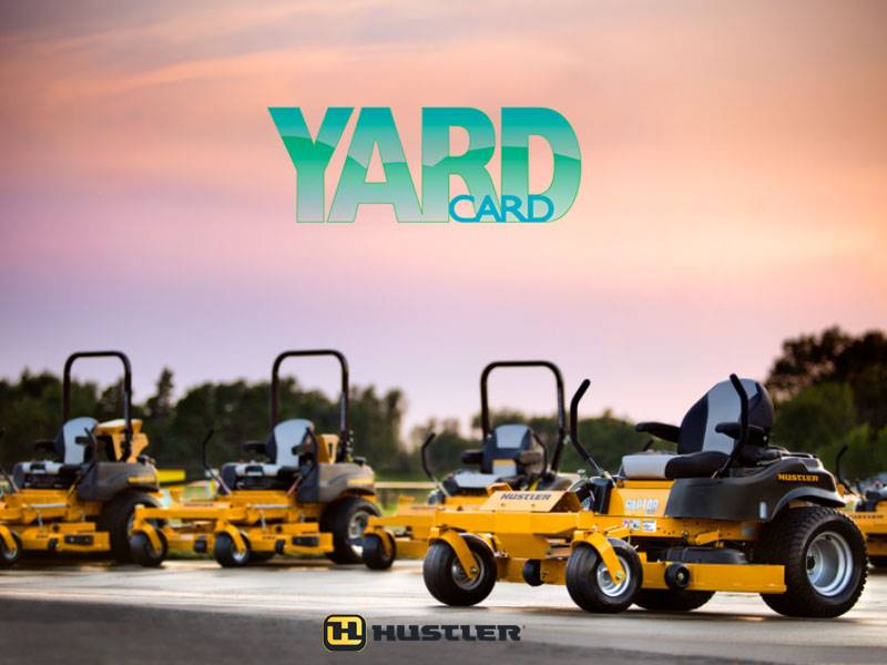 Hustler Turf Equipment - Yard Card Financing Programs