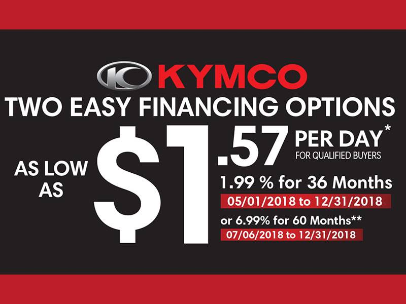 Kymco - Two Easy Financing Options