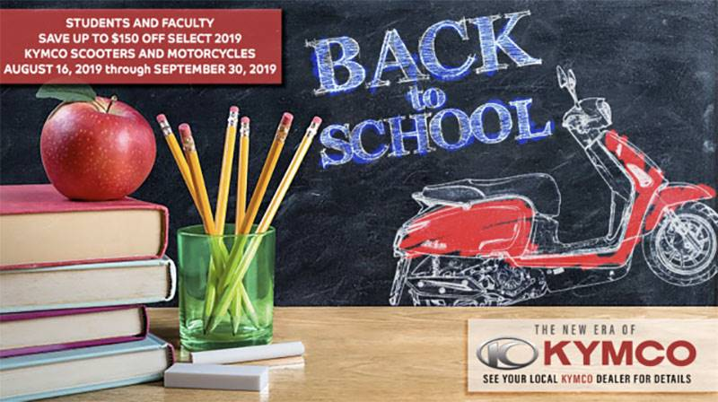 Kymco - Fall Back To School Rebate