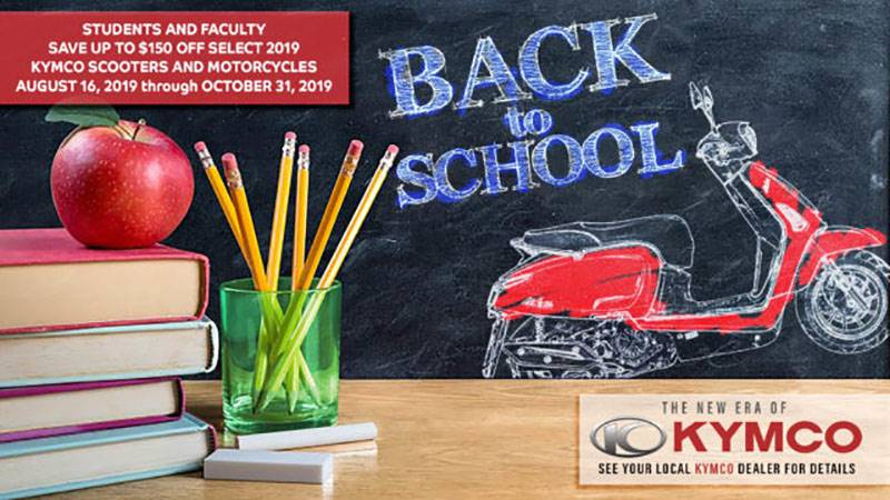 Kymco - Back To School Rebate