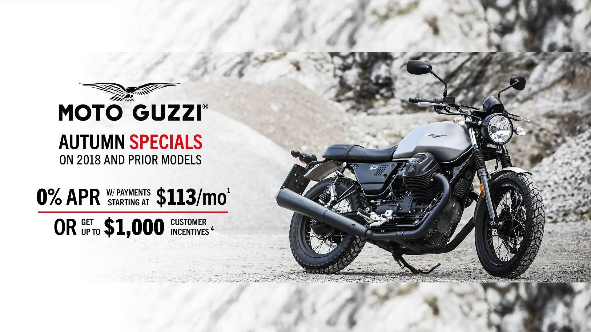 Moto Guzzi - Autumn Specials - 2018 and Prior Models