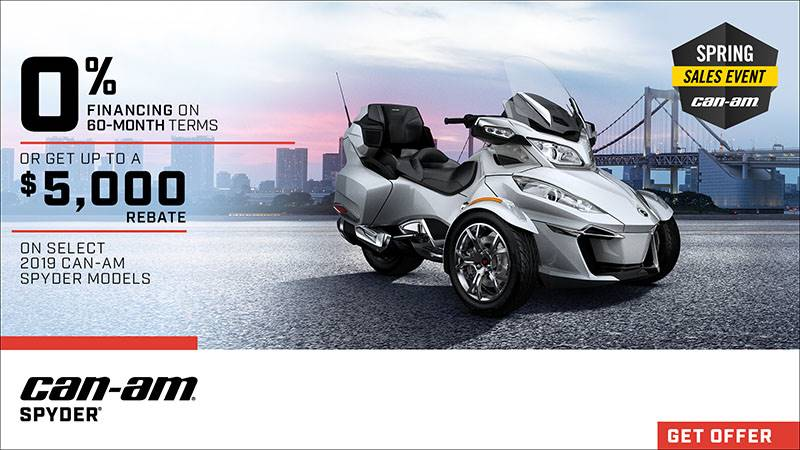 Can-Am - Spring Sales Event - Spyder Offers