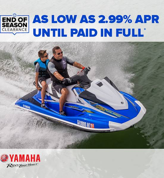 Yamaha Waverunners - End of Season Clearance - 2.99% APR