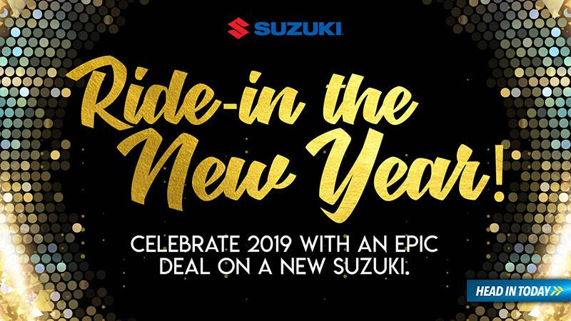 Suzuki Motor of America Inc. Suzuki - Ride in the New Year - Motorcycles and Scooters