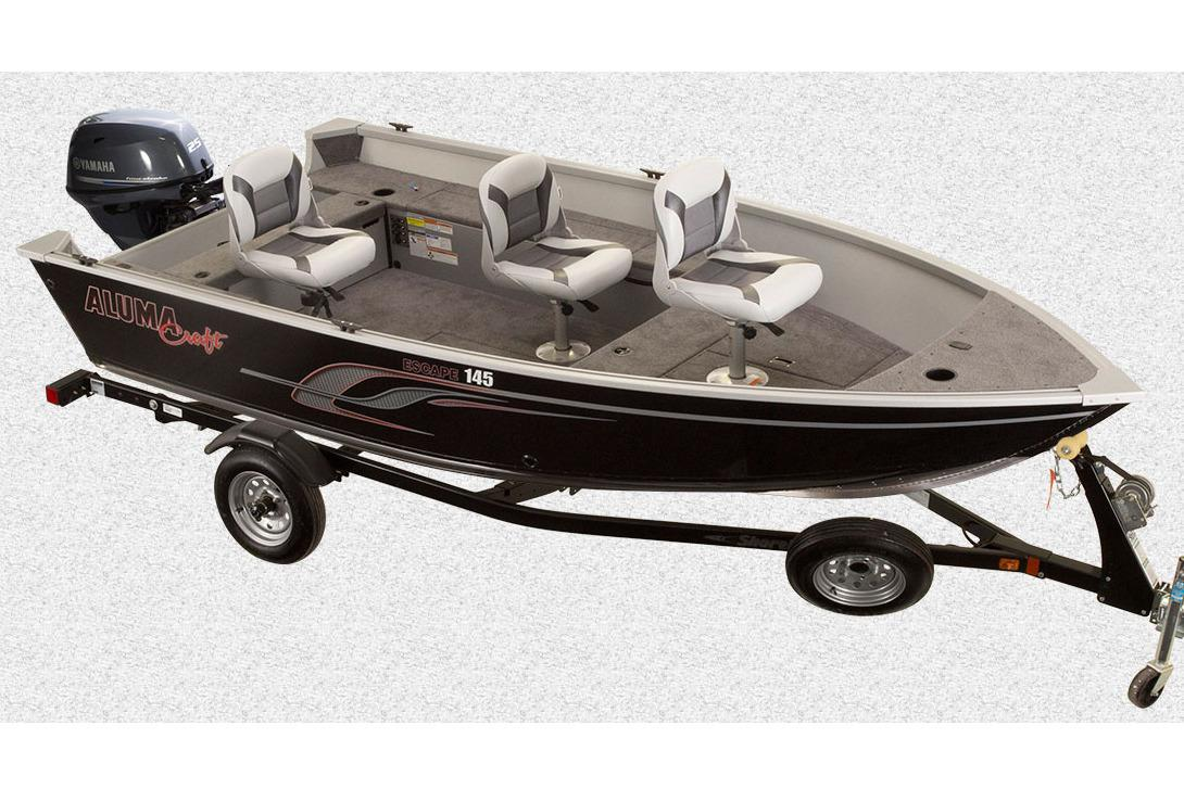 2016 Alumacraft Escape 145 Tiller in Trego, Wisconsin