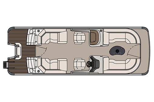 2017 Avalon Catalina Platinum Quad Lounge Windshield - 25' in Black River Falls, Wisconsin