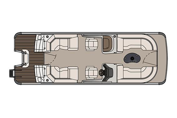 2018 Avalon Catalina Platinum Quad Lounge Windshield - 25' in Ontario, California