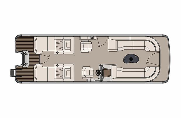 2018 Avalon Catalina Platinum Rear Lounge - 27' in Black River Falls, Wisconsin