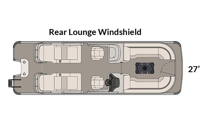 2018 Avalon Excalibur Rear Lounge Windshield - 27' in Ontario, California