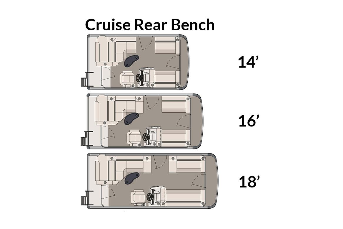 2018 Avalon Venture Cruise Rear Bench - 16' in Memphis, Tennessee