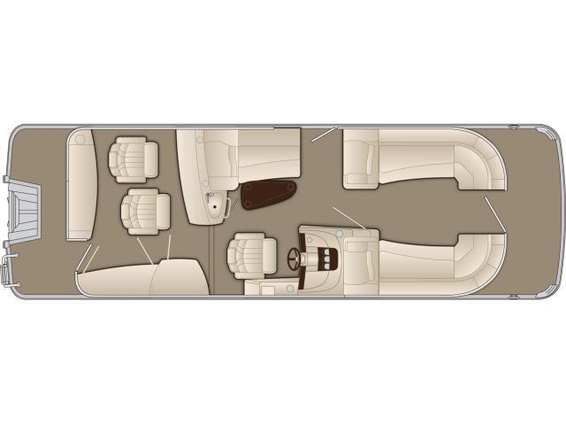2015 Bennington 2550 RBR in Round Lake, Illinois