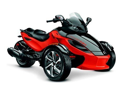 Can-Am Red / Steel Black Metallic