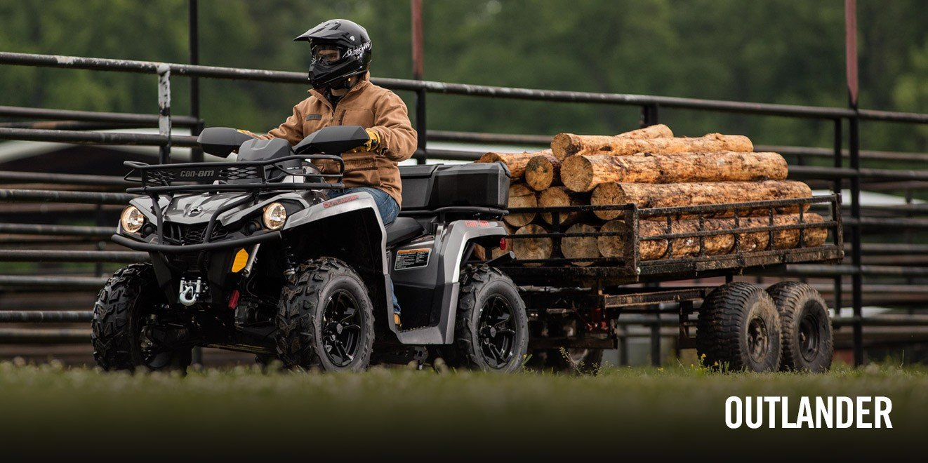 2017 Can-Am Outlander 570 in Lancaster, New Hampshire
