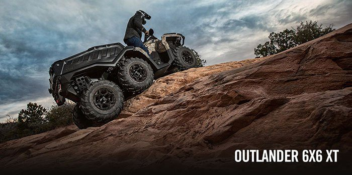 2017 Can-Am Outlander 6x6 XT 1000 in Waterbury, Connecticut