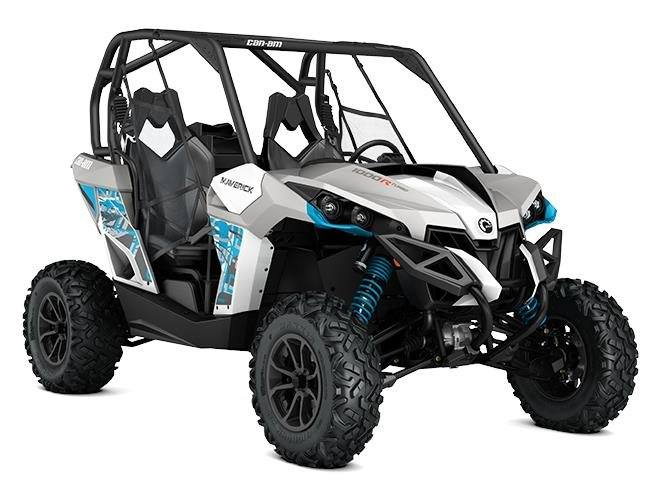 2017 Can Am Maverick Turbo In Sauk Rapids Minnesota White Light Grey Octane Blue