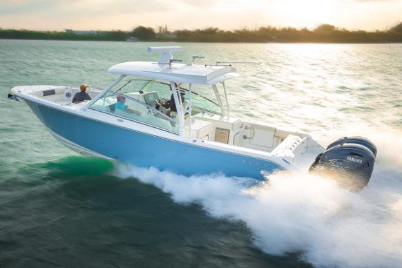 2021 Cobia 330 Dual Console in Chesapeake, Virginia - Photo 1