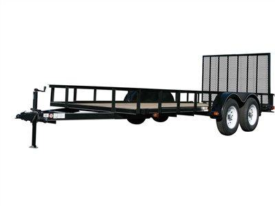 2015 Carry-On Trailers 6X12GW2BRK - 7,000 lbs. GVWR 6 ft. Tandem Wood Floor in Jesup, Georgia