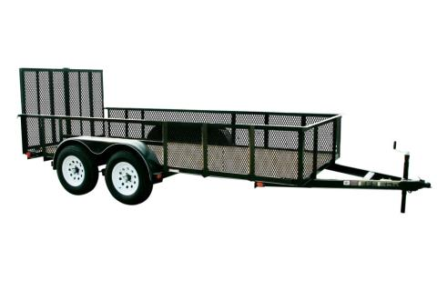 2015 Carry-On Trailers 6X16GWHS2BRK - 7,000 lbs. GVWR 6 ft. High-Side Mesh in Jesup, Georgia