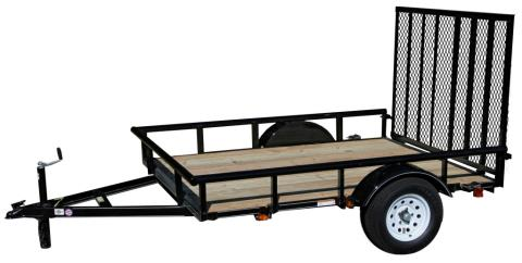 2015 Carry-On Trailers 6X8GW2KPT - 2,400 lbs. GVWR Wood Floor in Jesup, Georgia