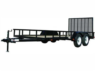 2015 Carry-On Trailers 7X12GW1BRK - 7,000 lbs. GVWR 7 ft. Tandem Wood Floor in Jesup, Georgia