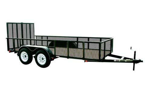2015 Carry-On Trailers 7X14GWHS1BRK  - 7,000 lbs. GVWR 7 ft. High-Side Mesh in Jesup, Georgia