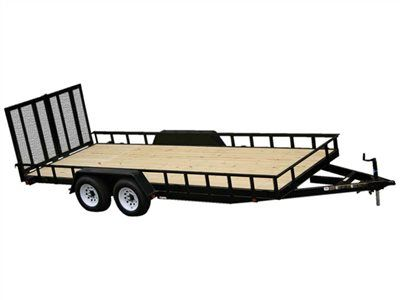2015 Carry-On Trailers 7X16HDLAND - 10,000 lbs. GVWR Tandem Wood Floor in Jesup, Georgia