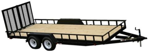 2015 Carry-On Trailers 7X18HDLAND - 10,000 lbs. GVWR Tandem Wood Floor in Jesup, Georgia