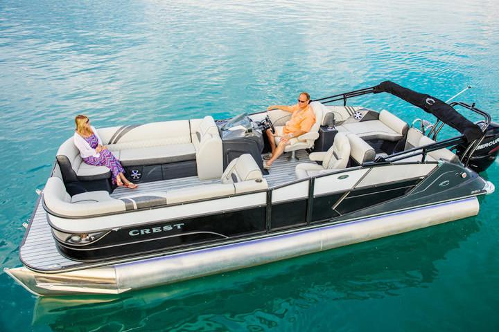 New 2018 Crest Caribbean 250 SLS Power Boats Outboard in