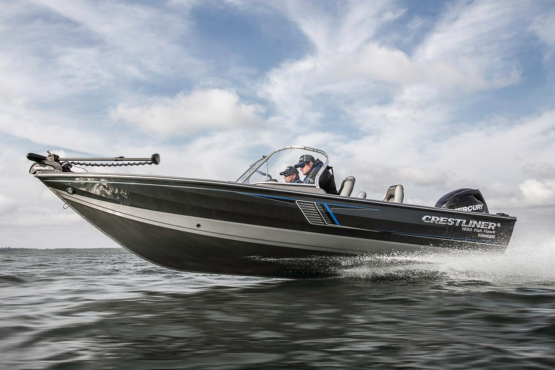 New 2017 crestliner 1950 fish hawk sc power boats outboard for Crestliner fish hawk