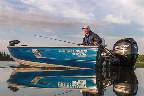 2018 Crestliner 1650 Pro Tiller in Cable, Wisconsin