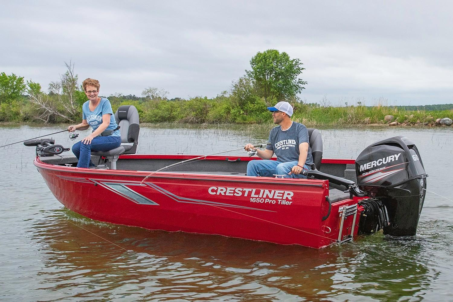 2019 Crestliner 1650 Pro Tiller in Cable, Wisconsin