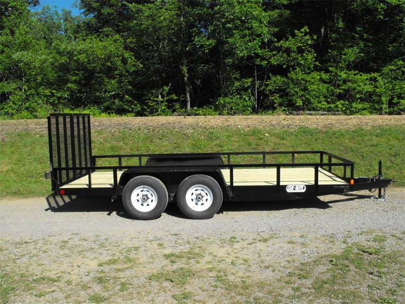 2015 Car Mate Trailers 8 x 16 Angle Landscape Equipment in Brockway, Pennsylvania