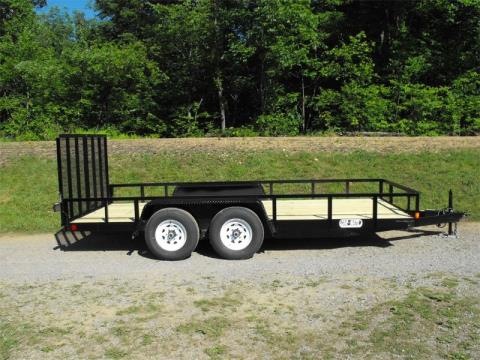 2015 Car Mate Trailers 8 x 16 Angle Landscape Equipment in Saint Marys, Pennsylvania