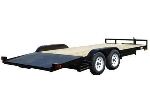 2015 Car Mate Trailers 8 x 18 Angle Iron II in Brockway, Pennsylvania