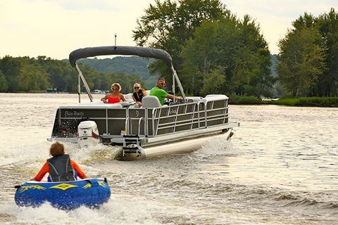 2016 Evinrude Pontoon E90GNL in Roscoe, Illinois