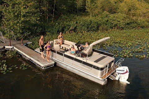 2016 Evinrude Pontoon E90SL in Roscoe, Illinois