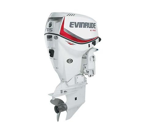 2019 Evinrude E-TEC Pontoon 115 HP (E115SNL) in Wilmington, Illinois