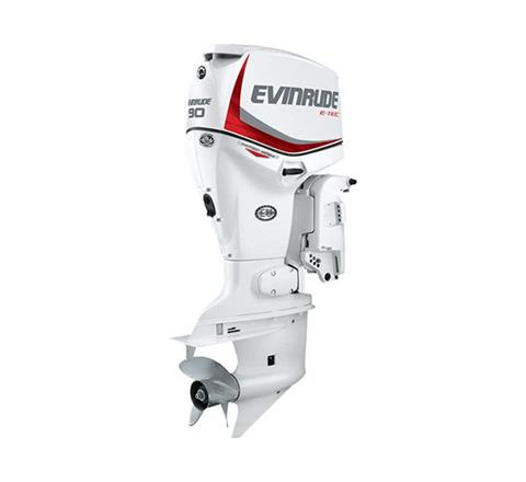 2019 Evinrude E-TEC Pontoon 90 HP (E90SNL) in Woodruff, Wisconsin
