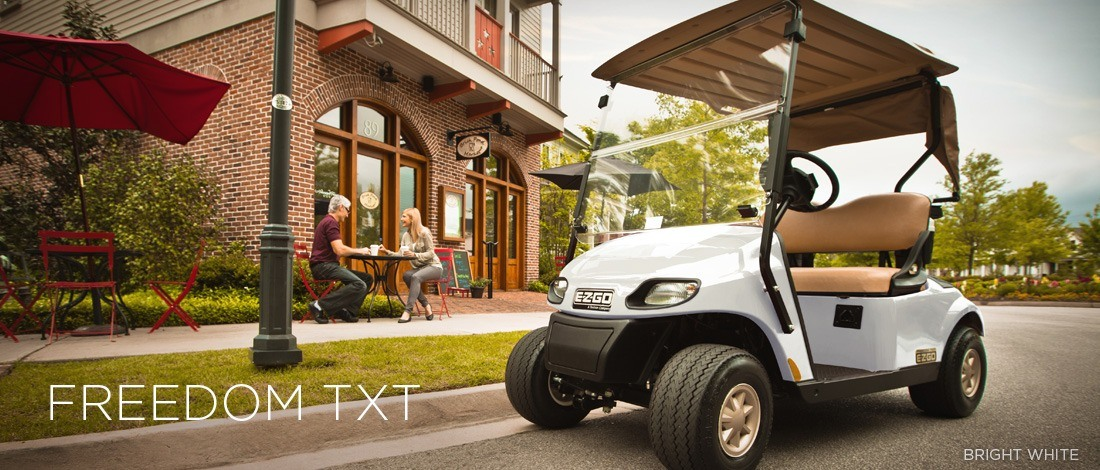 New 2016 E-Z-Go Freedom TXT Gas Golf Carts in Trevose, PA Ezgo Golf Cart All White on white and blue golf cart, white go cart, white custom golf cart, white yamaha golf cart, white gas golf cart, white hummer golf cart,