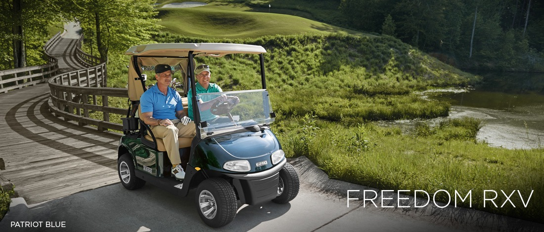 2017 E-Z-Go Golf Freedom RXV Gas in Union Grove, Wisconsin