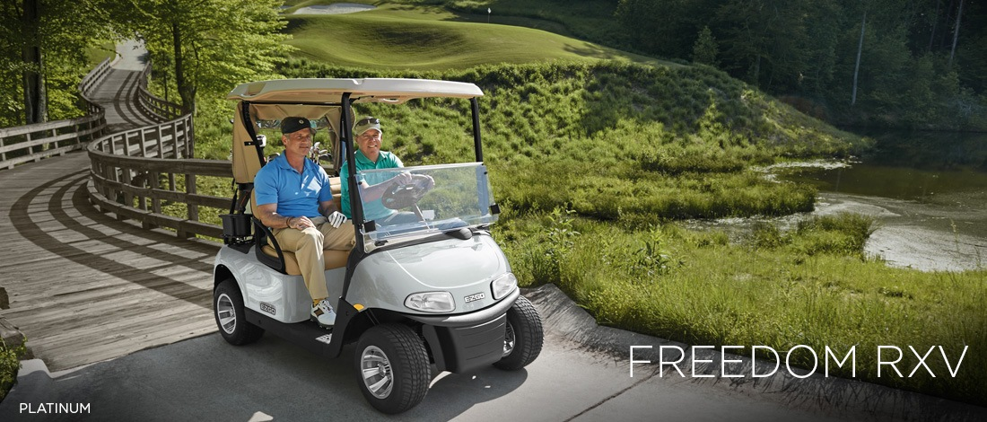2017 E-Z-Go Golf Freedom RXV Gas in Hillsborough, New Hampshire