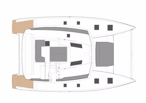 Fountaine Pajot Helia 44 Evolution Deck Layout Plan