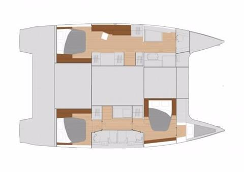 Fountaine Pajot Helia 44 Evolution Cabin Layout Plan