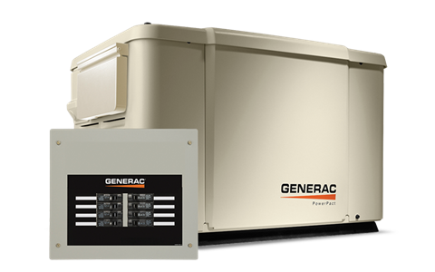 2018 Generac PowerPact Series 7.5 KW Home Backup Generator with 8 Transfer Backup Switch in Hillsboro, Wisconsin
