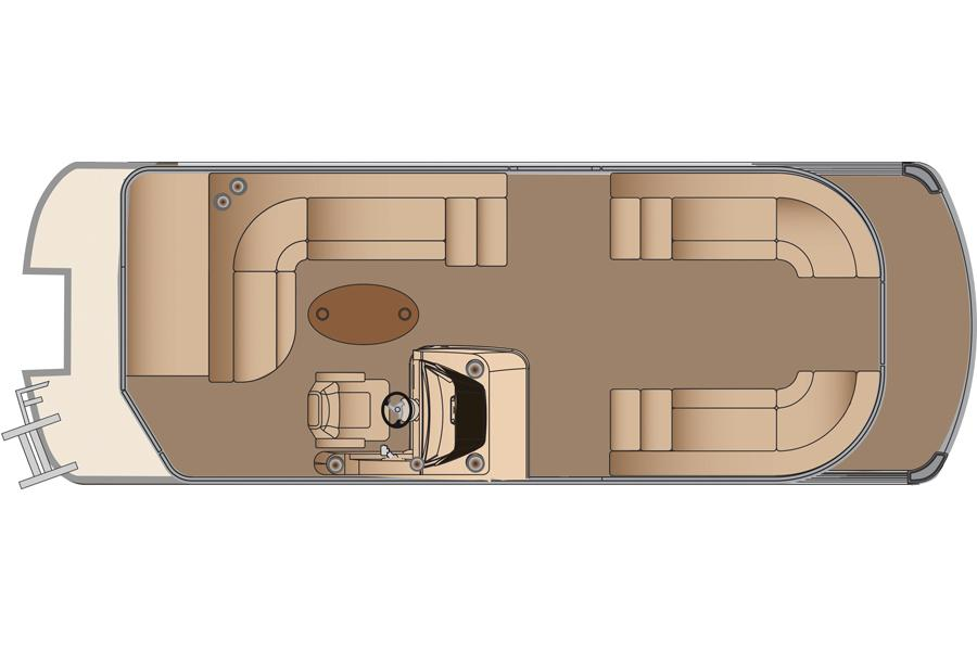 2013 Harris Flotebote Grand Mariner 250 in Manitou Beach, Michigan
