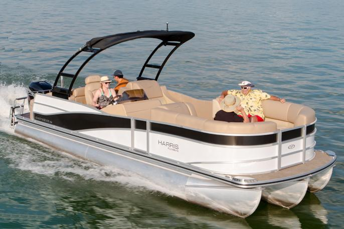 2014 Harris Flotebote Grand Mariner 250 in Manitou Beach, Michigan