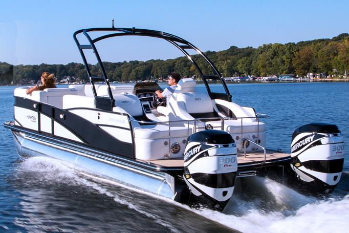 2014 Harris Flotebote Grand Mariner SL 250 in Manitou Beach, Michigan