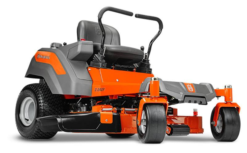 2019 Husqvarna Power Equipment Z242F 42 in. Kawasaki Carb Zero Turn Mower in Chillicothe, Missouri