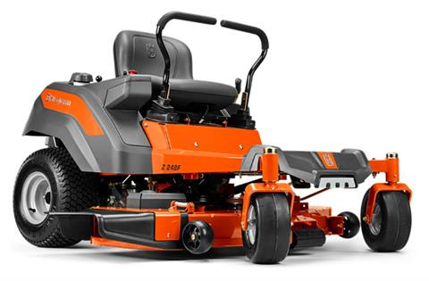 2019 Husqvarna Power Equipment Z248F 48 in. Kawasaki Carb Zero Turn Mower in Bigfork, Minnesota